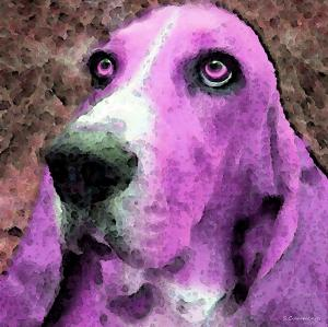 basset-hound-pop-art-pink-sharon-cummings