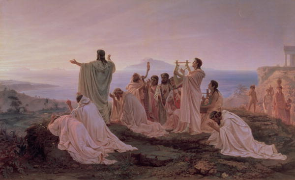 Pythagoreans' Hymn to the Rising Sun, 1869 (oil on canvas)