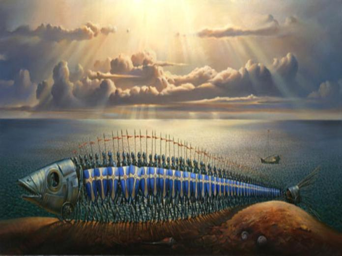 Vladamir-Kush-Surreal-Painting-Art-Gallery-Fish-Crusades